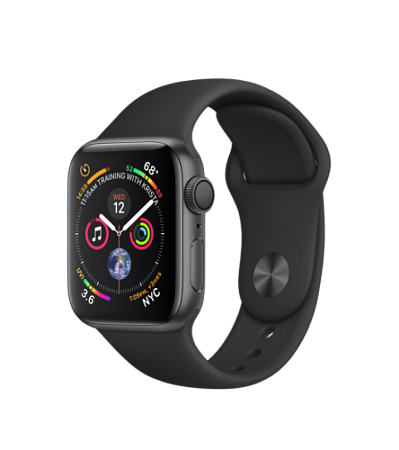 Apple Watch Series 4 GPS 40mm Space Gray Aluminum Black Case with Sport Band (Gps)