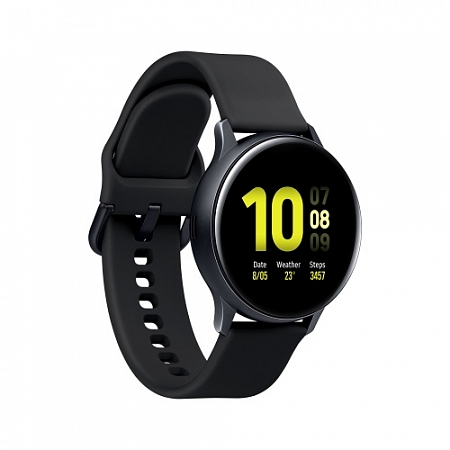 "Смарт-часы Samsung Galaxy Watch Active 1.1"" Super AMOLED черный (SM-R500NZKASER)"