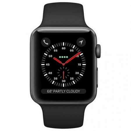 Apple Watch Series 4 44mm Space gray Aluminum Black Case with Sport Band A1976