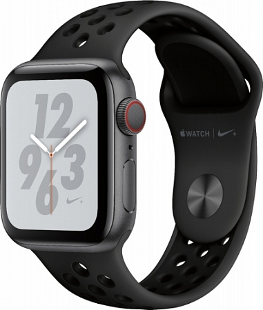 Apple Watch Series 4 44mm Space gray Aluminum Black Case with Sport Band