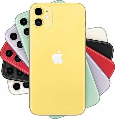 Смартфон Apple  iPhone 11 64Gb жёлтый RU/A